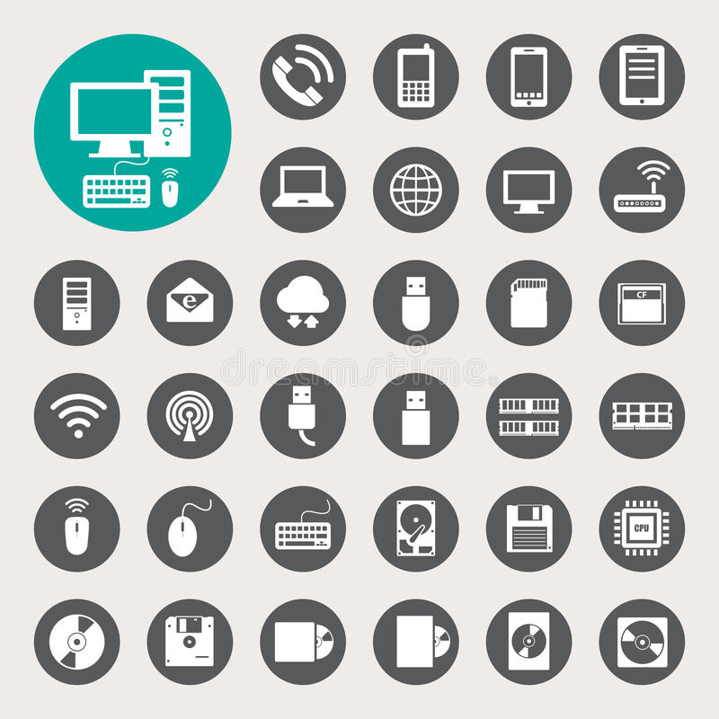 Mobile devices , computer and network connections vector illustration