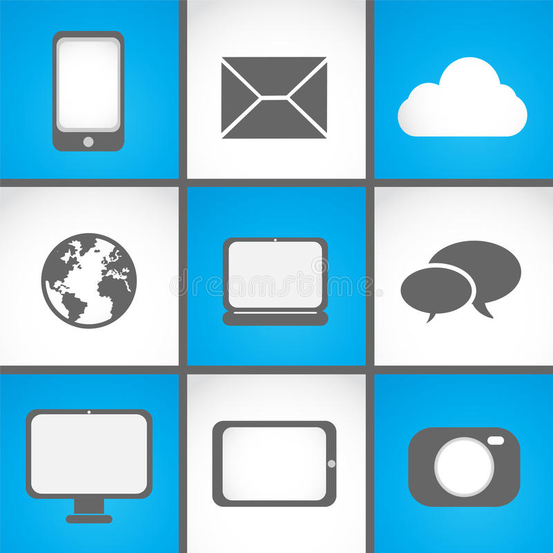 Download Mobile devices icon set stock vector. Image of internet - 33309966
