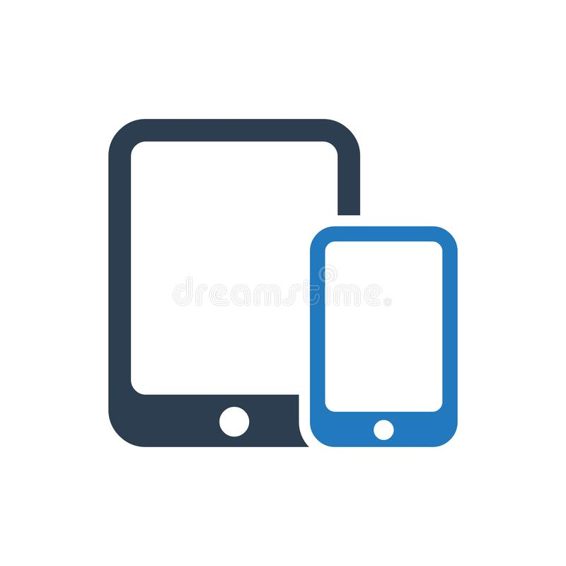 Mobile Devices Icon. Simple Illustration Of A Mobile Devices Icon vector illustration