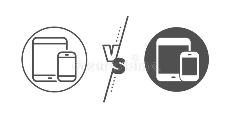 Mobile Devices icon. Smartphone, Tablet PC. Vector royalty free illustration