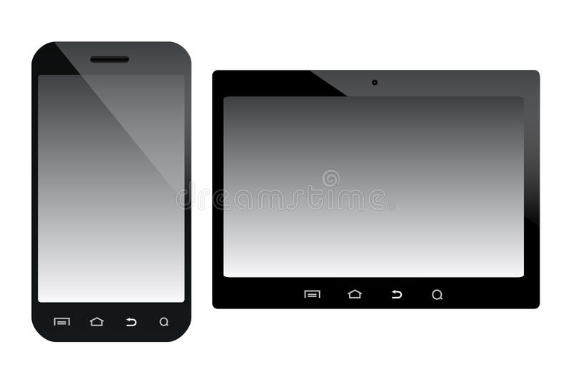 Mobile devices illustration stock photos