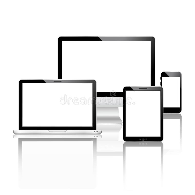 Mobile devices set stock illustration