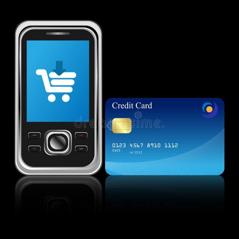 Mobile e-commerce royalty free illustration