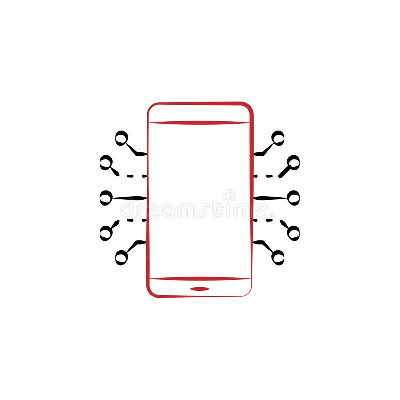 Free Mobile Electronics 2 Colored Hand Drawn Icon. Electronics Colored Element Illustration. Outline Symbol Design From Electronics Set Royalty Free Stock Images - 130915359