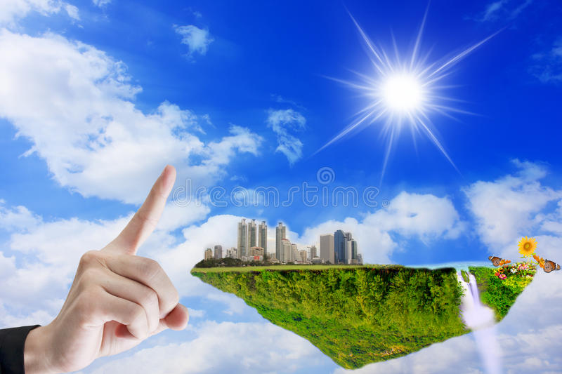 Download Mobile fantasy stock image. Image of hand, plant, global - 23372757