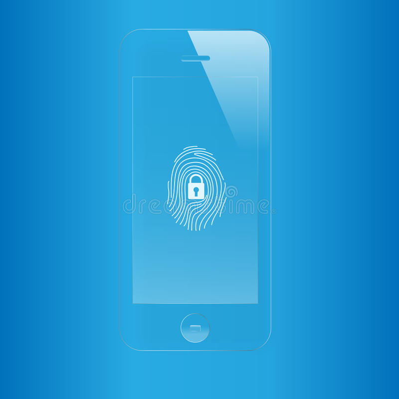 Free Mobile Fingerprint Scan Security Royalty Free Stock Photo - 33535635