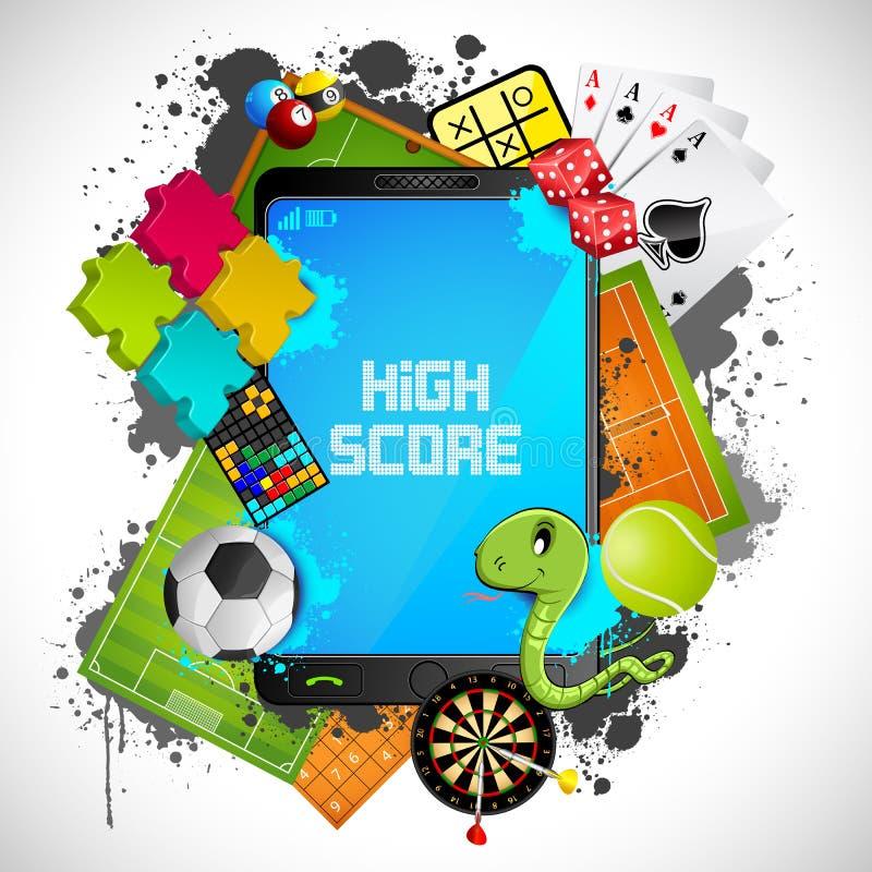 Mobile Gaming royalty free illustration