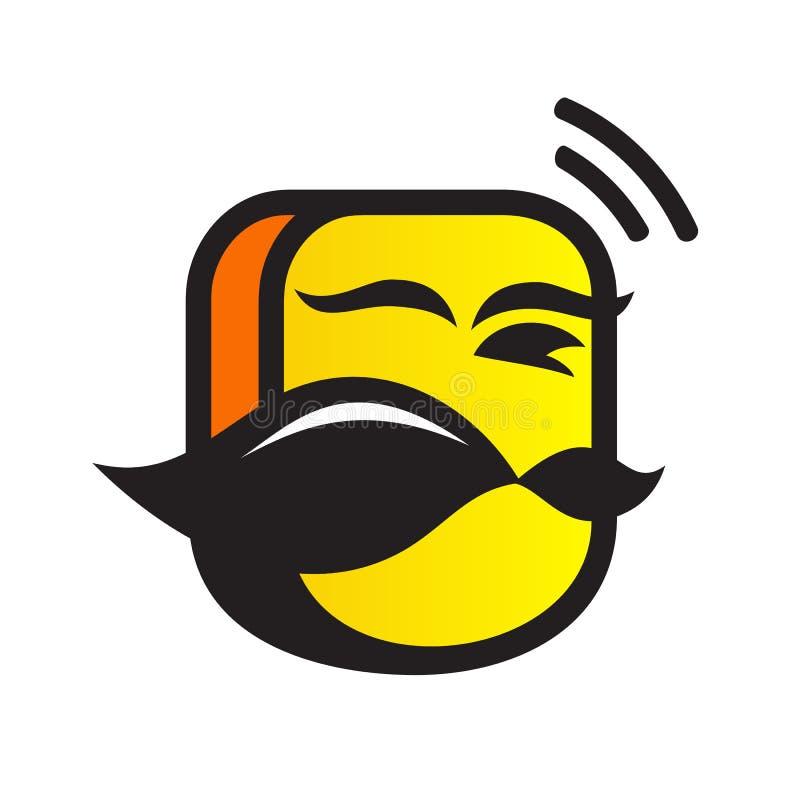 Mobile head logo vector illustration