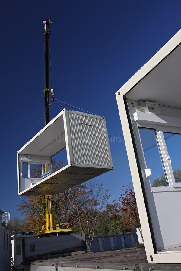Mobile home handling stock image