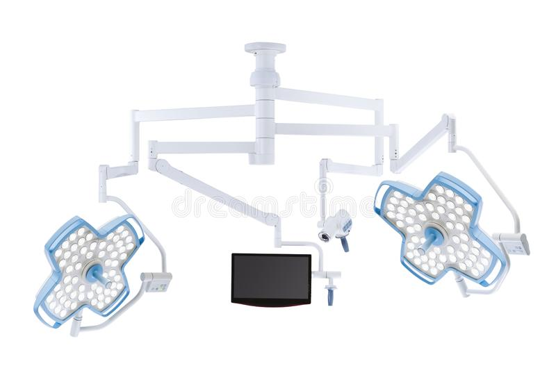 Mobile Hospital lighting under the white background. Medical Equipment. Technology of medical and hospital services. image for background, objects, copy space vector illustration