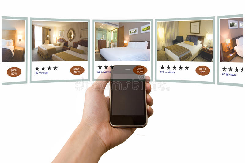 Mobile Hotel Booking royalty free stock photo