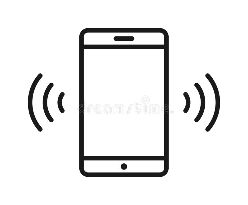 Mobile phone wifi icon stock illustration