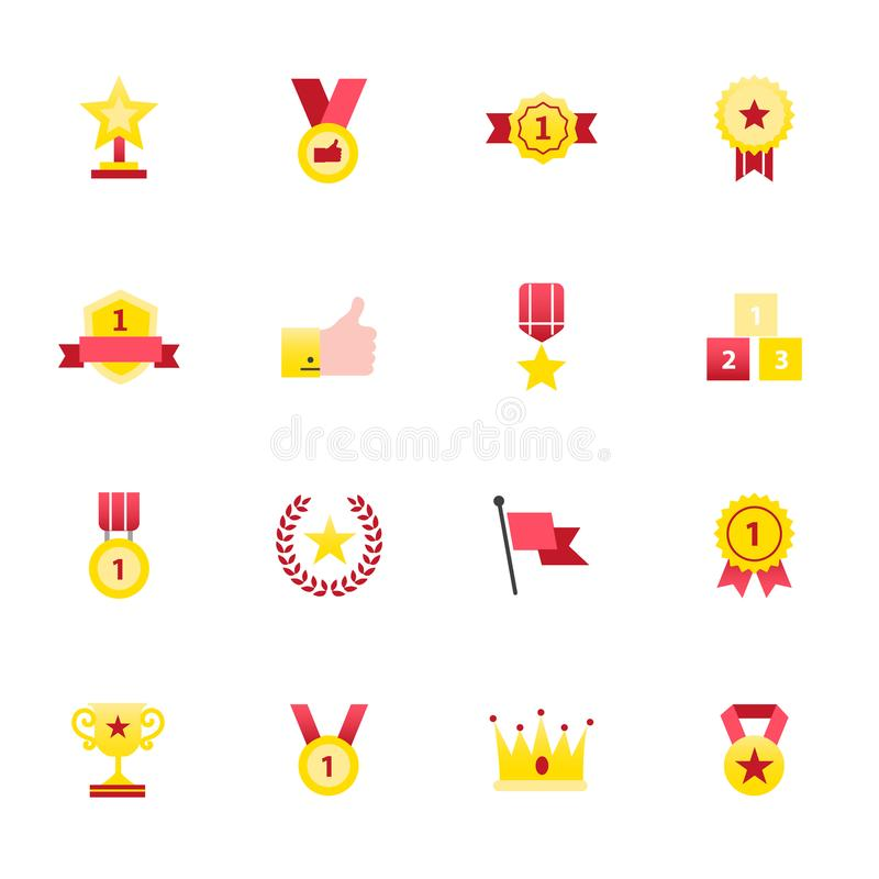 Mobile Icons and Notification Icons. Set of Setting Vector Illustration Color Icons Flat Style. stock illustration