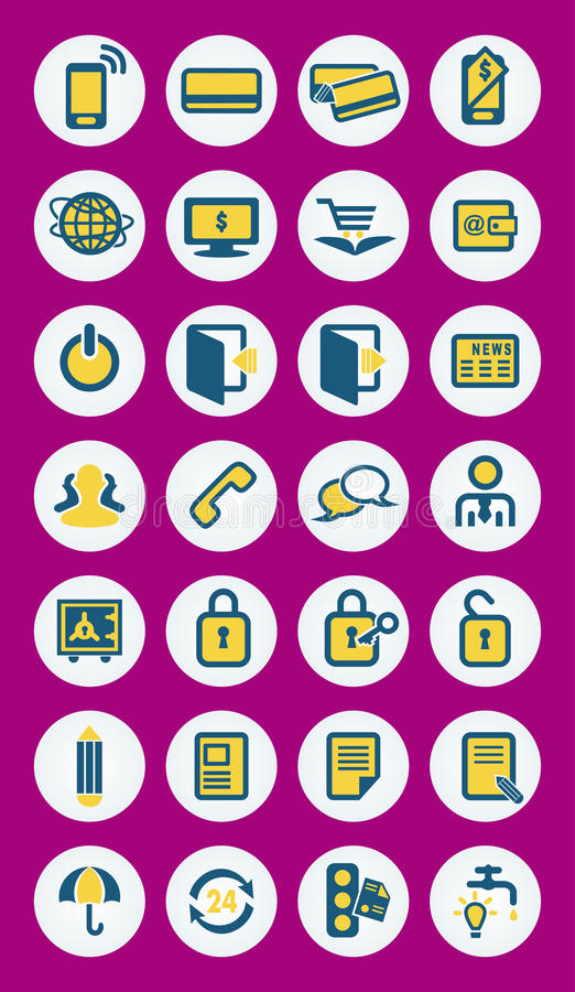 Mobile infographics vector icons royalty free illustration