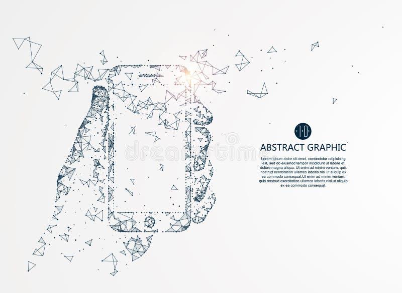 Mobile Internet technology. stock illustration