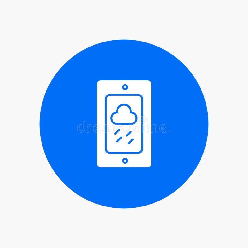 Mobile, Kreide, Wetter, regnerisch lizenzfreie abbildung