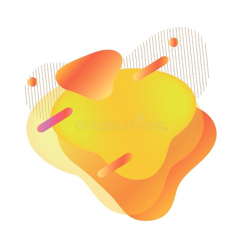 Mobile liquide moderne dynamique à vendre la bannière illustration de vecteur