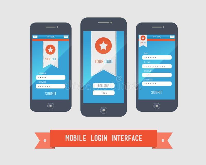 Mobile login interface form