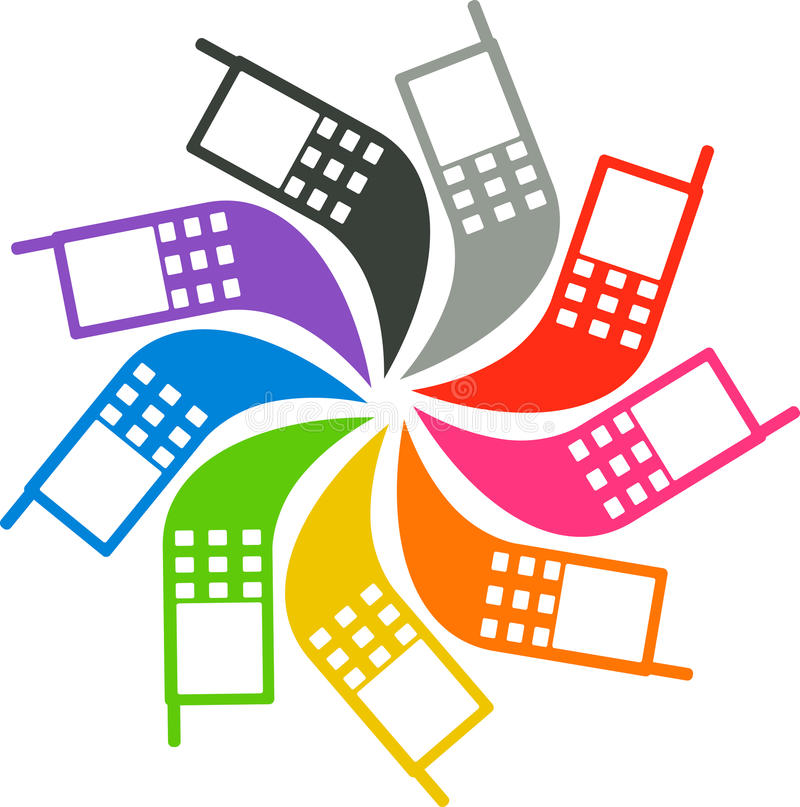 Download Mobile logo stock vector. Image of icon, line, dialing - 34411502