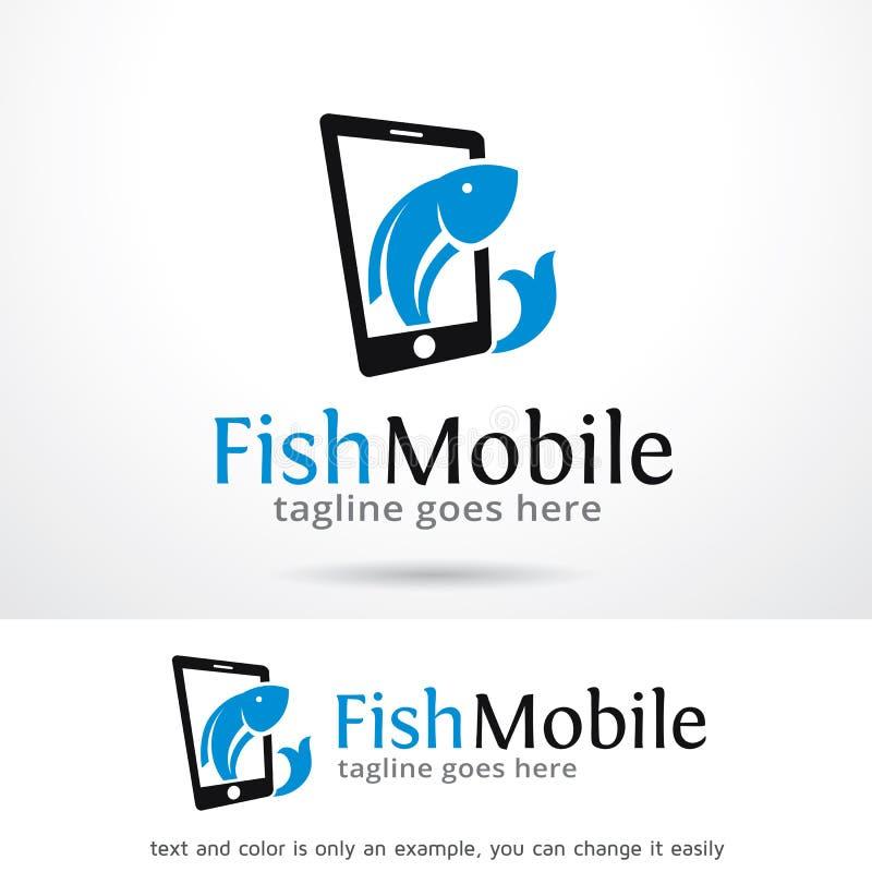 Mobile Logo Template Design Vector de poissons illustration libre de droits