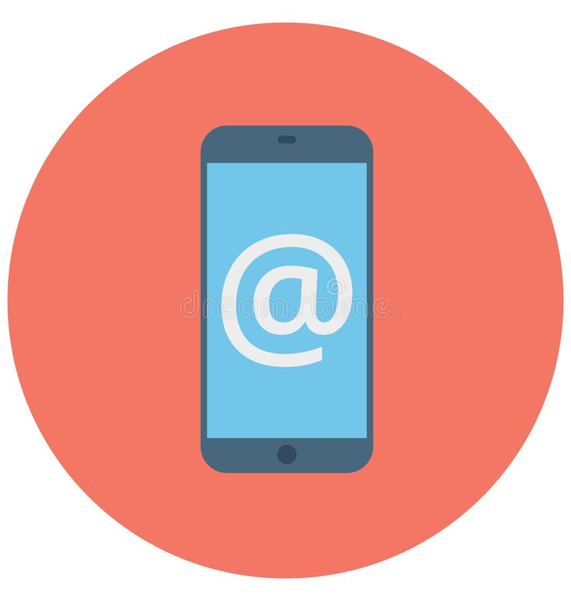 Mobile Mail Isolated Vector icon that can be easily modified or edit vector illustration