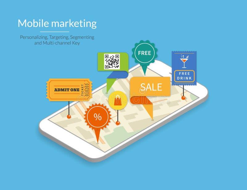 Mobile marketing royalty free illustration