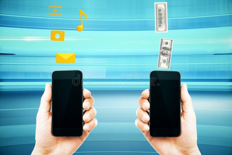 Mobile marketing smart phones vector illustration