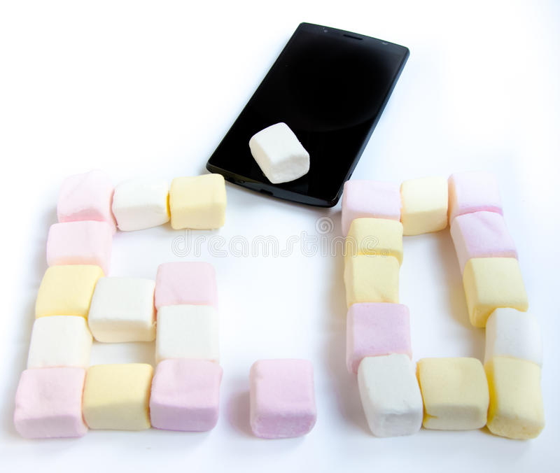 Mobile and Marshmallow stock photography