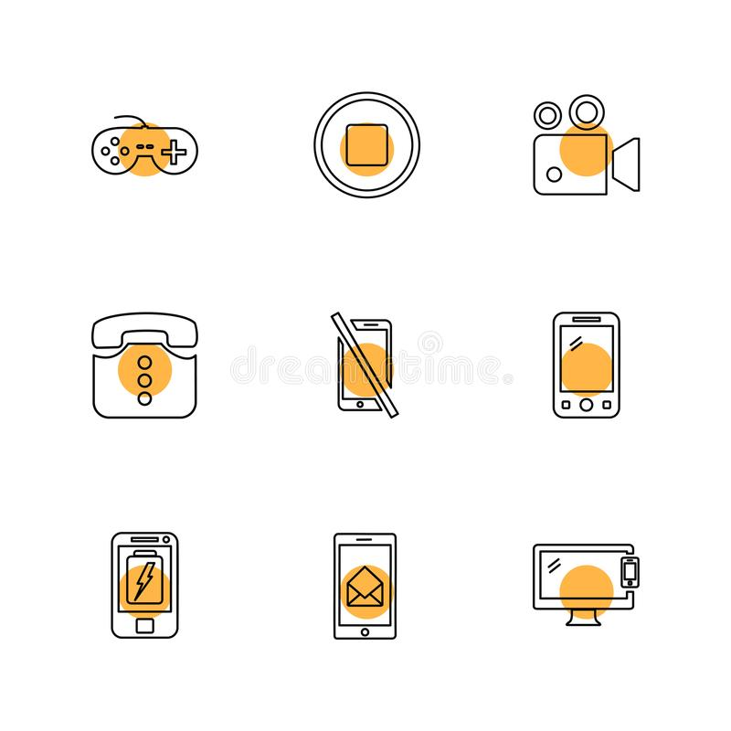 Mobile, media, multimedia , call , phones , eps icons set vect. Mobile, media, multimedia , call , phones , user interface , messages , wifi , internet , icon vector illustration