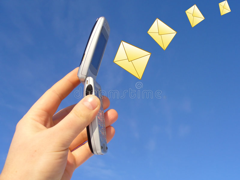 Download Mobile Messaging stock photo. Image of blue, internet - 1966812