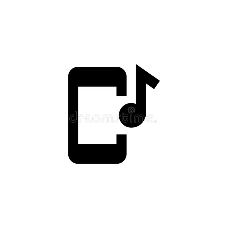 Mobile music icon. Playlist sign royalty free stock photography
