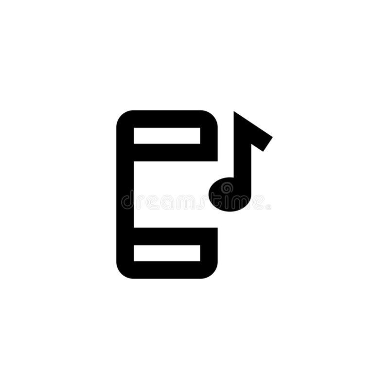 Mobile music icon. Playlist sign stock photo