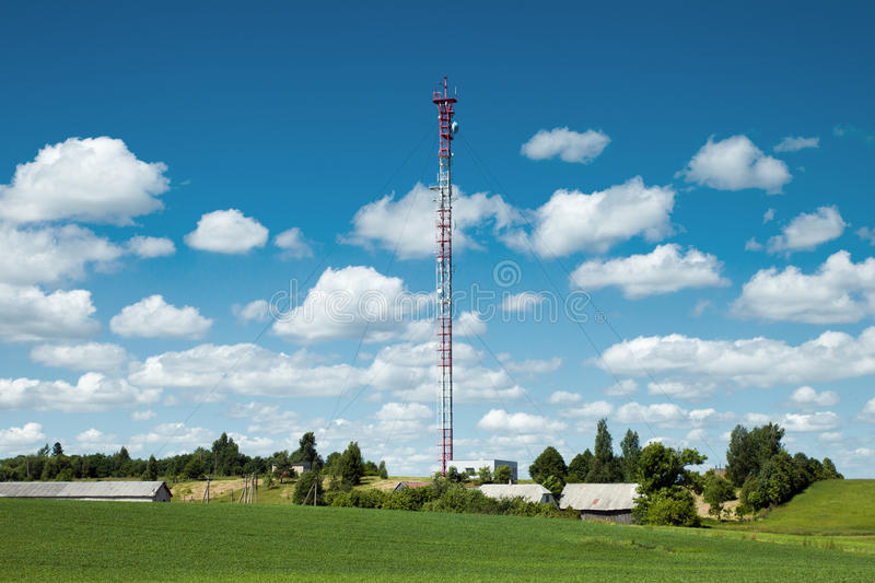 Mobile Network Aerials Stock Photo