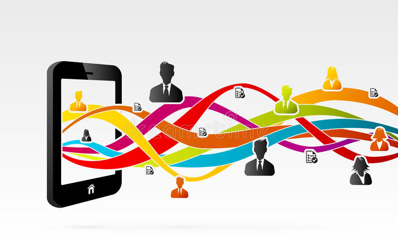 Mobile Network vector illustration