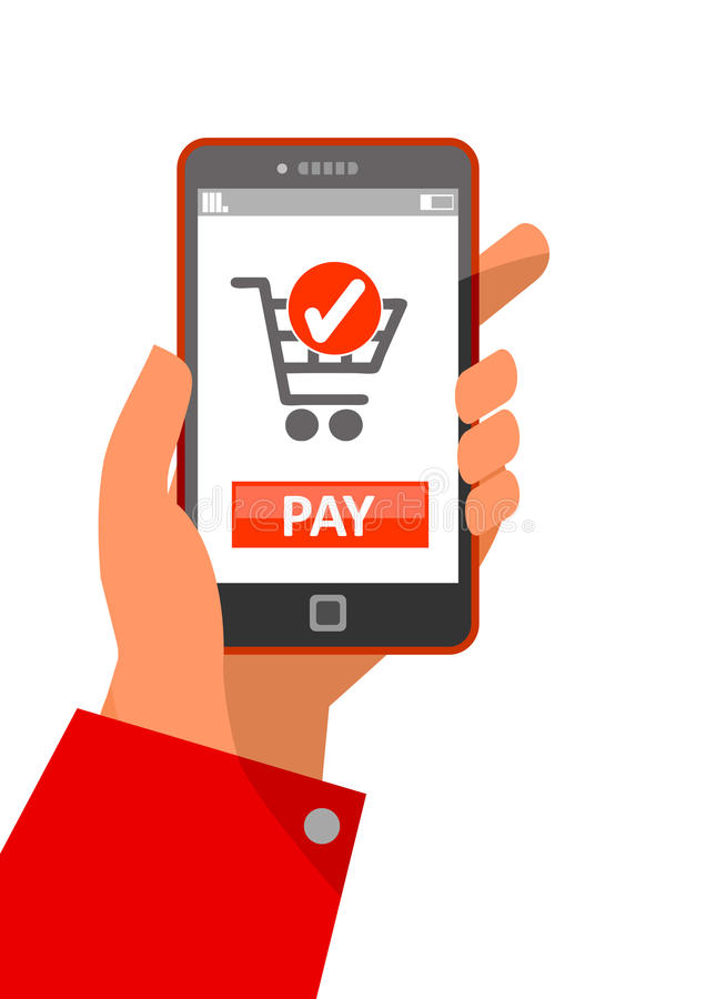 Mobile payment concept stock illustration