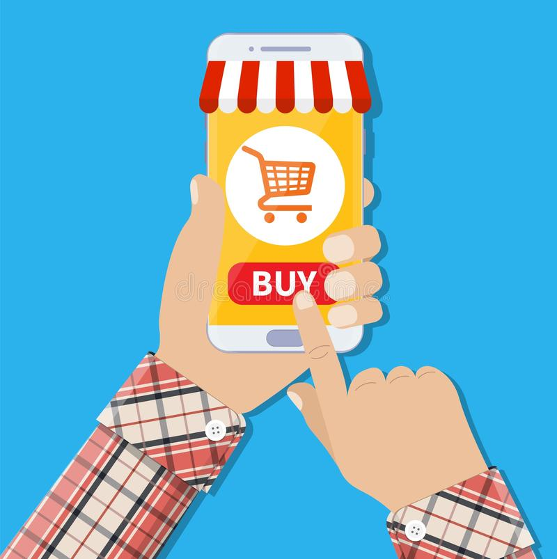 Mobile payment concept royalty free illustration
