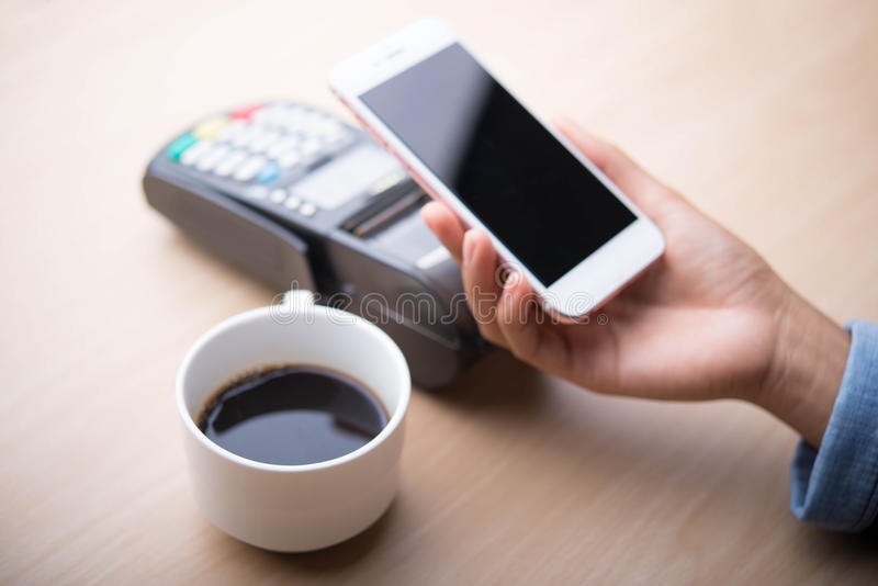 Mobile payment ,. Online shopping concept royalty free stock photo