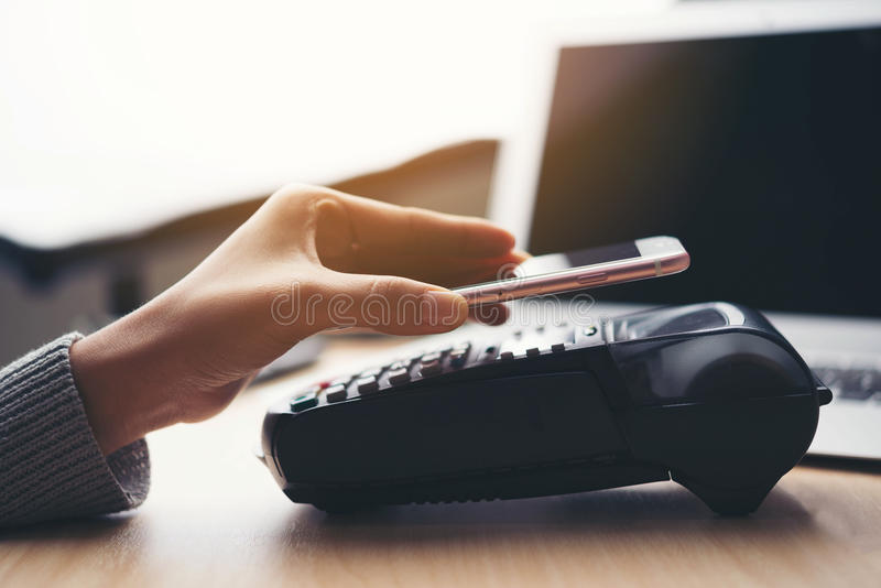 Mobile payment ,. Online shopping concept royalty free stock photography