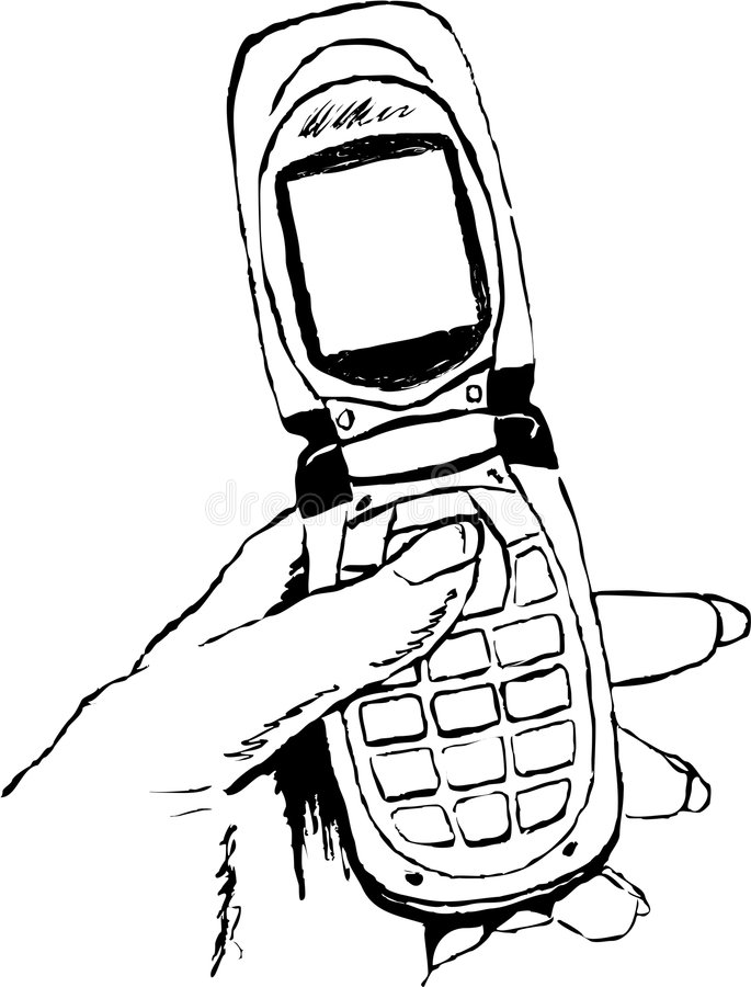 Mobile phone royalty free illustration
