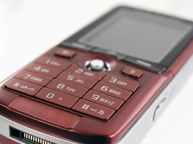 Mobile phone. Generic detail of mobile phone keyboard stock photography