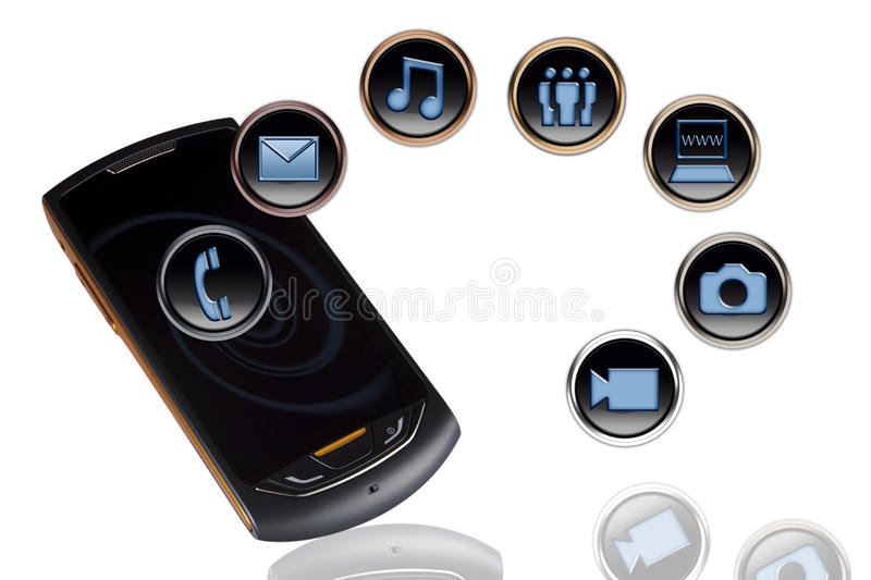 Download Mobile phone stock photo. Image of phone, call, music - 25241440