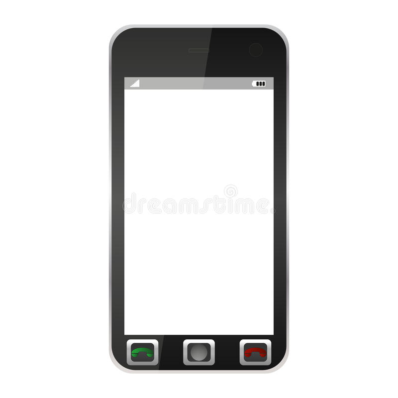 Download Mobile phone stock vector. Image of green, isolated, touchpad - 25826090