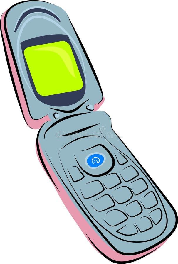 Mobile phone stock illustration