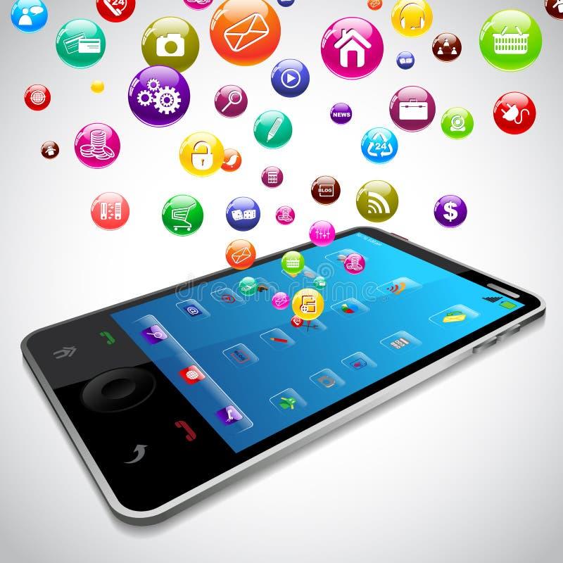 Mobile Phone Application royalty free illustration