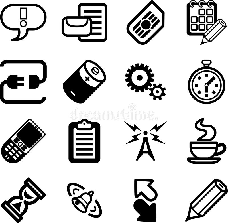 Mobile Phone Applications GUI royalty free illustration