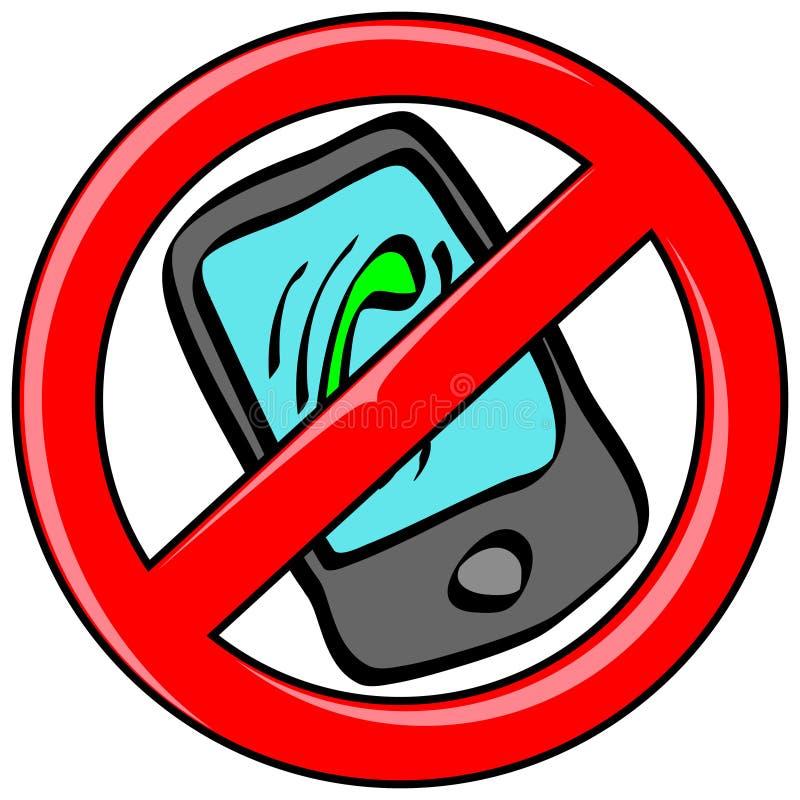 Mobile Phone Banned vector illustration