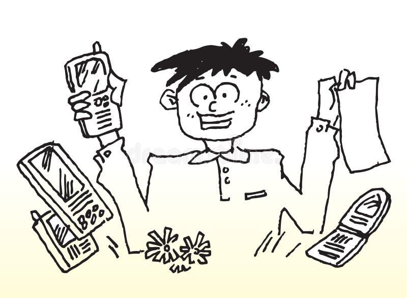 Mobile phone bill vector illustration