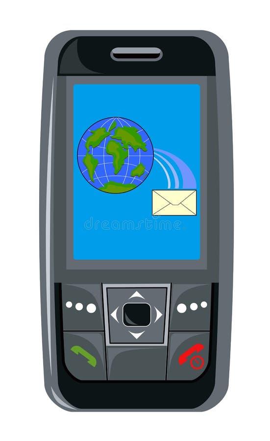 Mobile phone black stock illustration