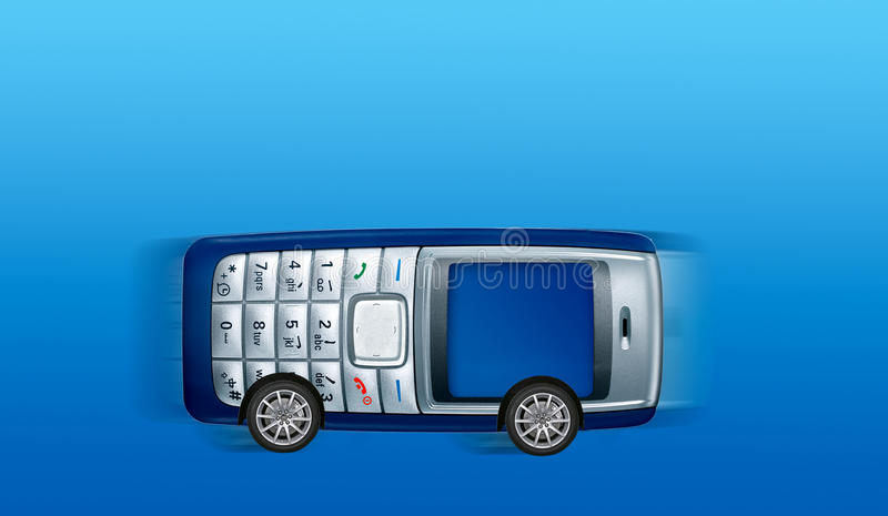 Download Mobile-phone Bus Royalty Free Stock Image - Image: 9789436