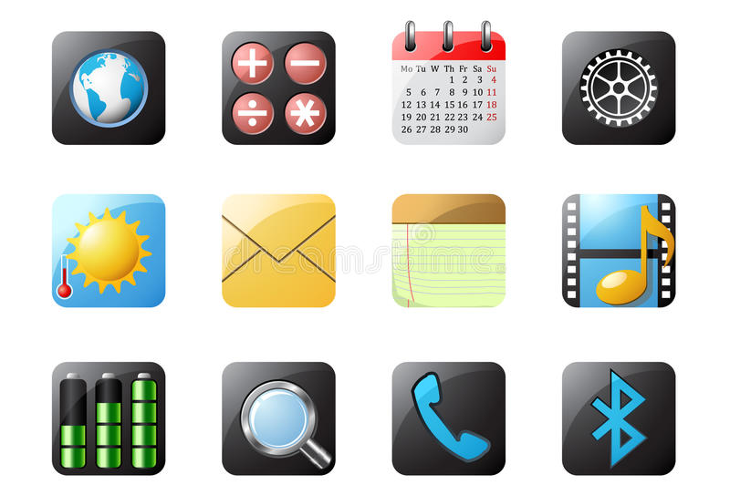 Download Mobile phone buttons 1 stock vector. Illustration of digital - 13614030